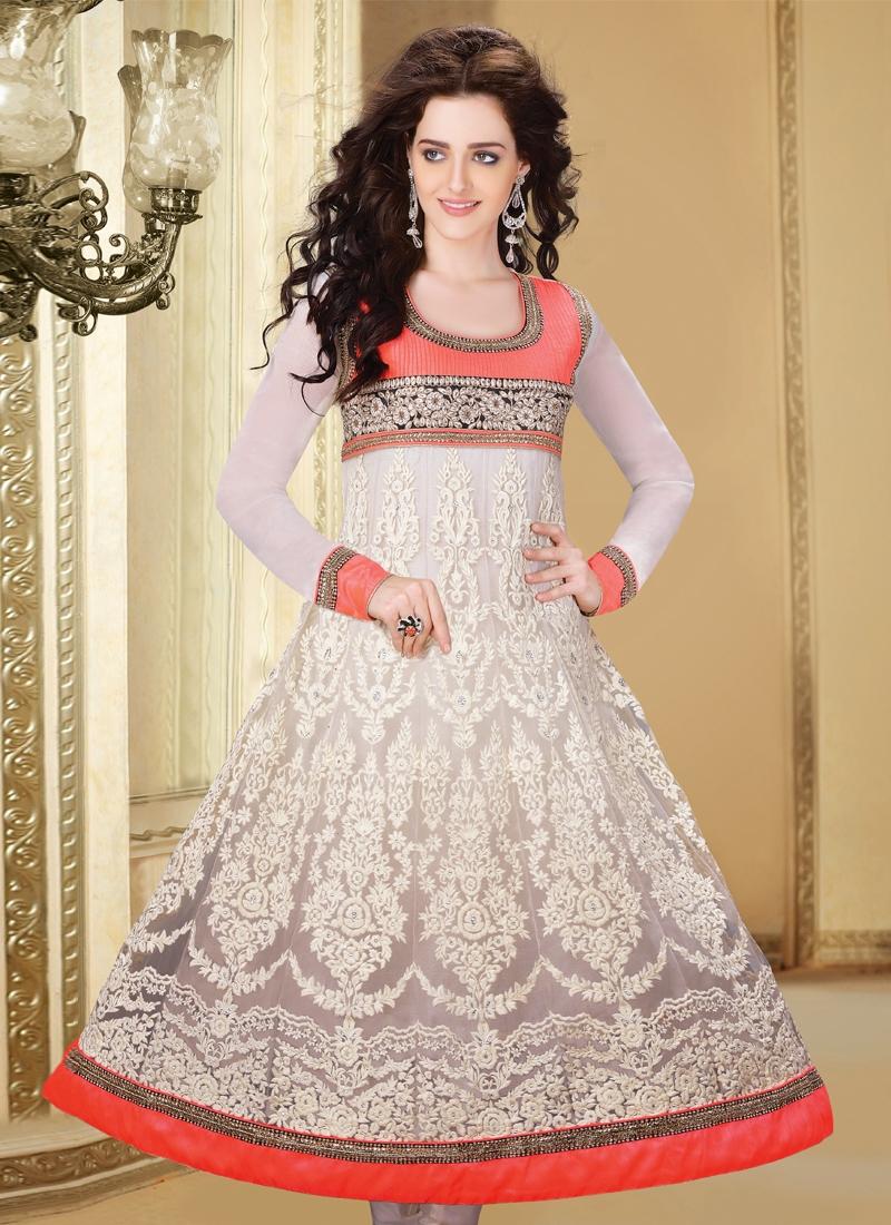 Fabulous Patch Enhanced Readymade Anarkali Suit