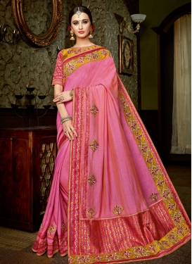 Fancier Booti Work  Contemporary Style Saree