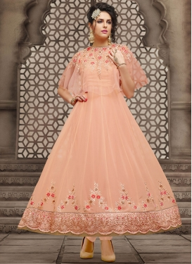 Fancier Embroidered Work  Anarkali Salwar Kameez