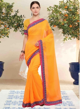 Fancy Fabric Contemporary Saree For Casual