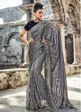 Fancy Fabric Contemporary Style Saree