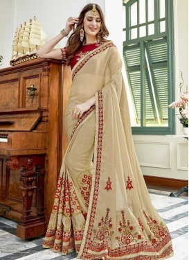 Fancy Fabric Contemporary Style Saree