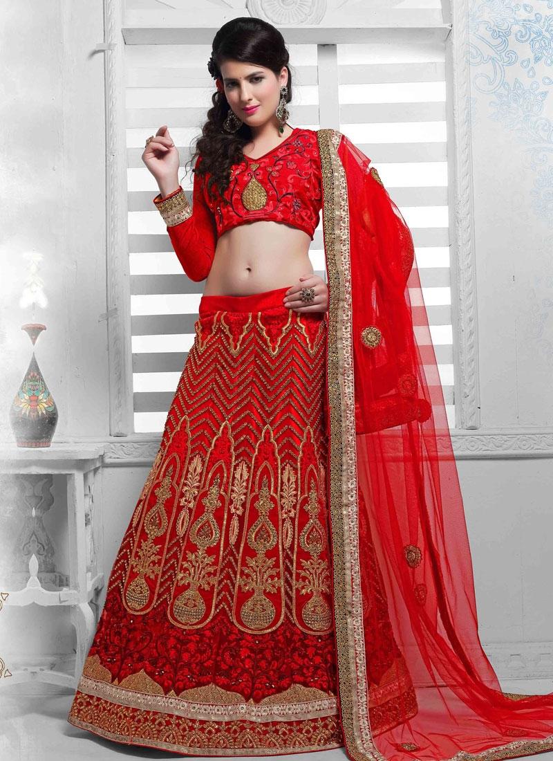 Fantastic Booti And Resham Work Wedding Lehenga Choli
