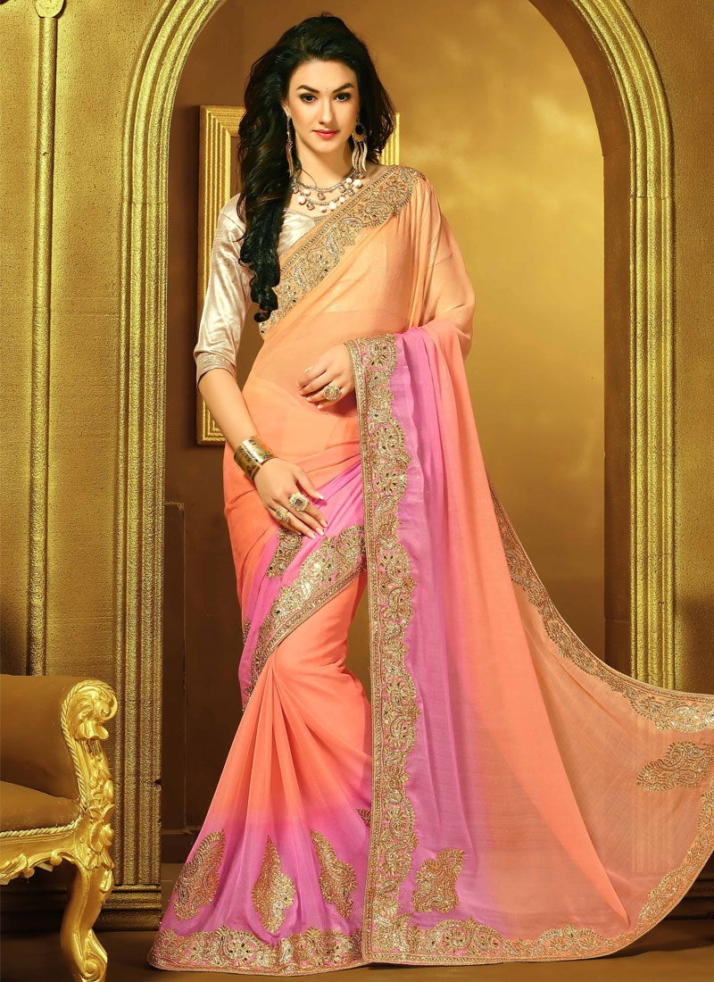 Fantastic Booti And Stone Work Designer Saree