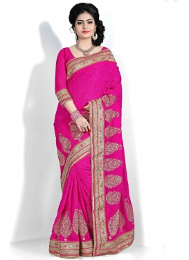 Fantastic Booti Work Pure Georgette Designer Saree