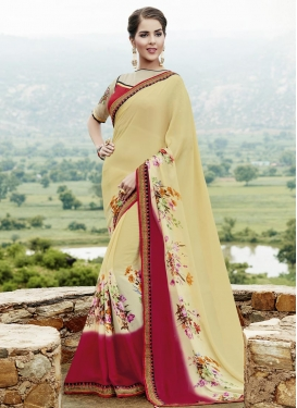 Fantastic Faux Georgette Designer Contemporary Style Saree