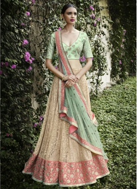 Fantastic Jaal And Patch Border Work Wedding Lehenga Choli