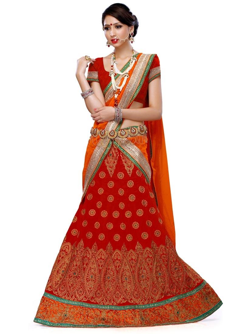 Fantastic Lace And Stone Work Wedding Lehenga Choli