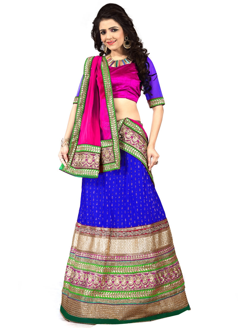 Fantastic Patch Border Work Designer Lehenga Choli
