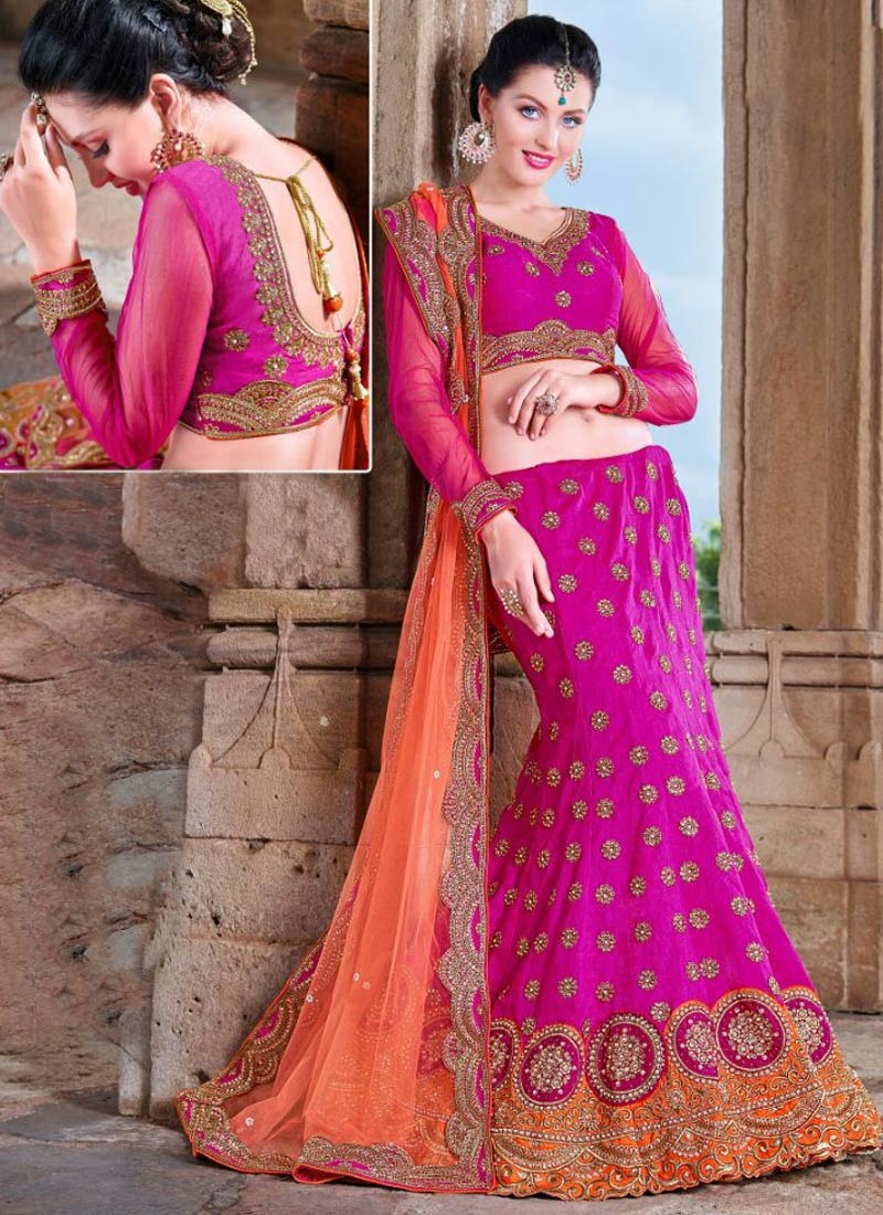 Fantastic Stone And Multi Work Wedding Lehenga Choli