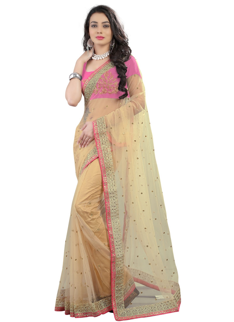Fantastic Stone Work Net Party Wear Saree