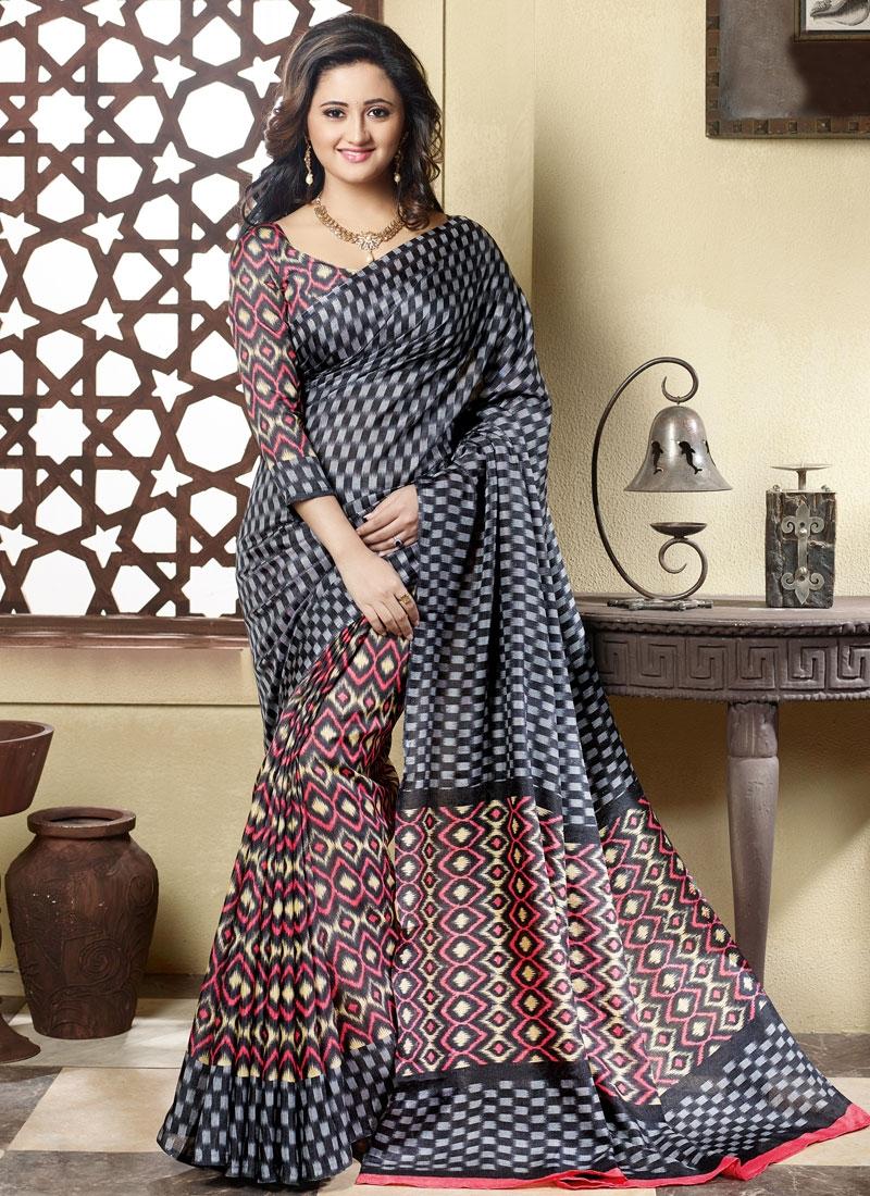 Fascinating Art Silk Rashami Desai Casual Saree