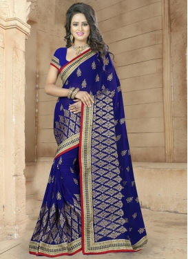 Fascinating Booti Work  Trendy Saree