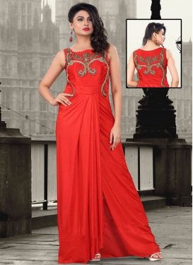 Fascinating Cutdana Work Wedding Readymade Gown