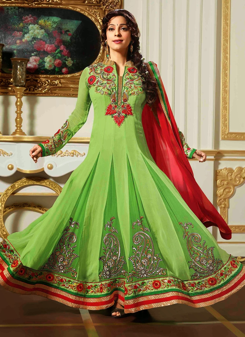 Fascinating Georgette Juhi Chawla Bollywood Suit