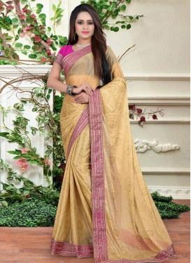 Fascinating Lycra Lace Work Trendy Classic Saree