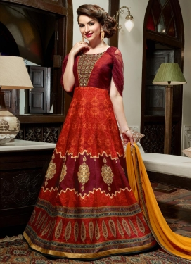 Fashionable  Cutdana Work Long Length Designer Suit