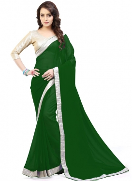 Fashionable  Faux Georgette Contemporary Saree