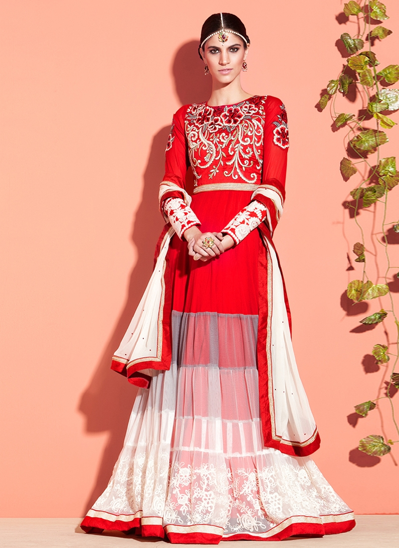 Fashionable Georgette And Net Designer Salwar Suit