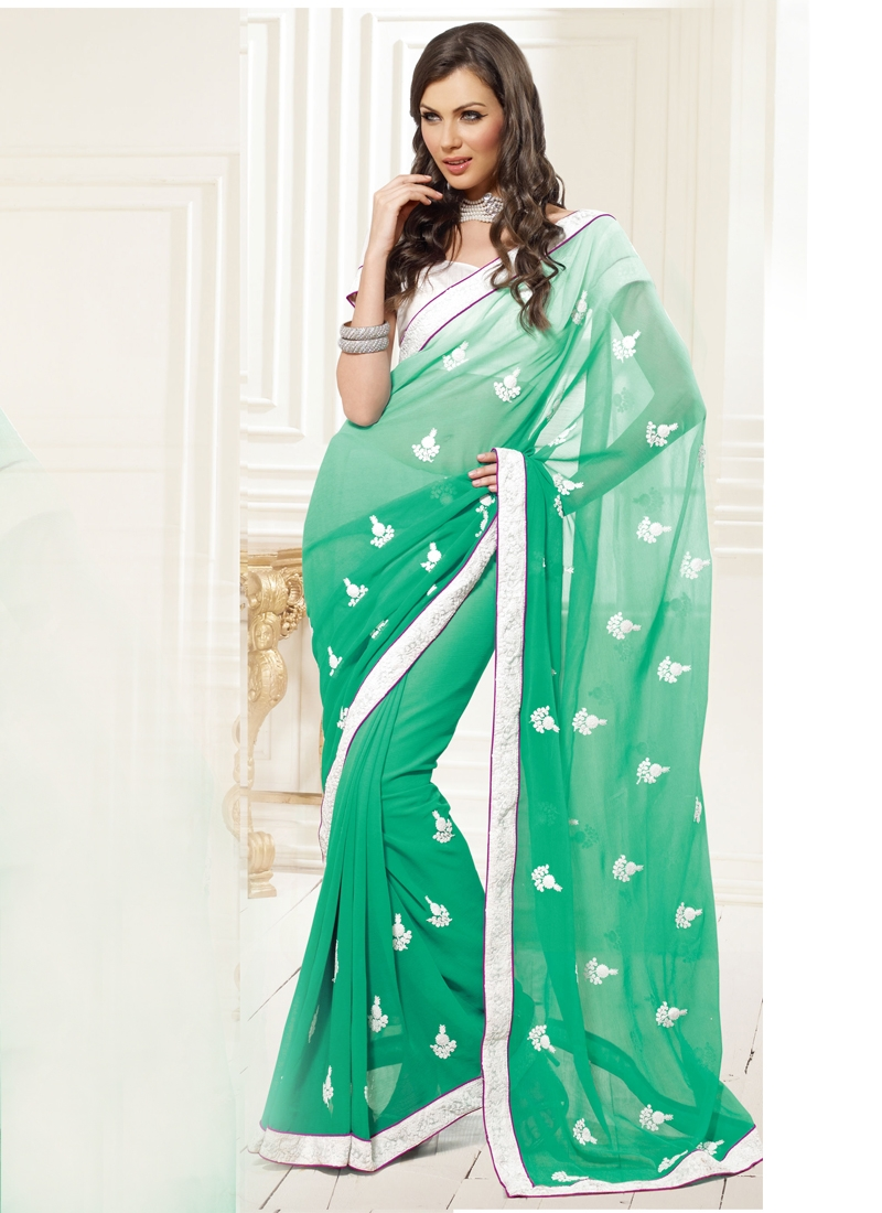 Fashionable Resham Enhanced Casual Saree