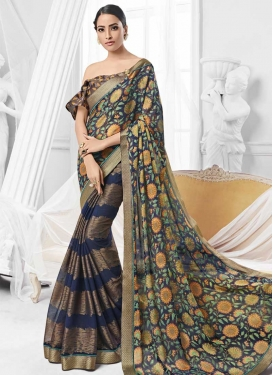 Faux Chiffon Classic Saree For Ceremonial