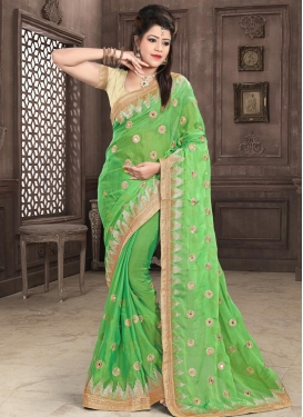 Faux Chiffon Contemporary Saree