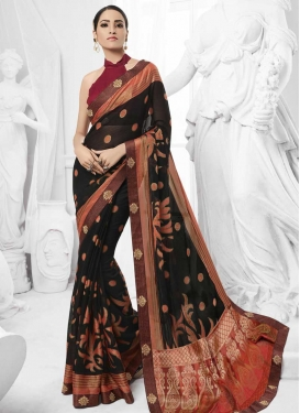 Faux Chiffon Contemporary Saree For Ceremonial