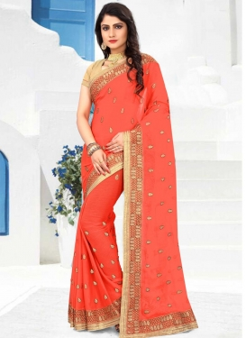 Faux Chiffon Contemporary Style Saree