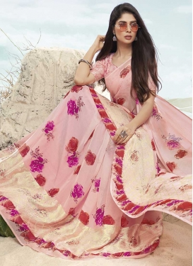 Faux Chiffon Trendy Classic Saree