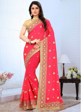 Faux Chiffon Trendy Classic Saree For Festival