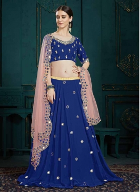 Faux Georgette A - Line Lehenga For Ceremonial
