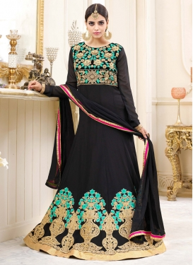 Faux Georgette Anarkali Salwar Suit
