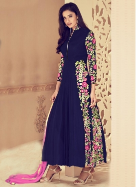 Faux Georgette Ankle Length Designer Suit
