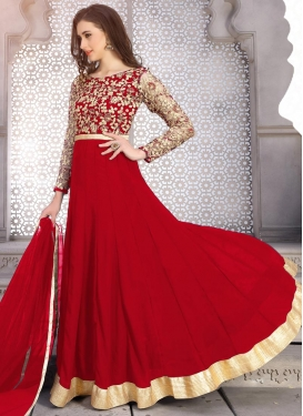 Faux Georgette Ankle Length Kalidar Salwar Suit For Party