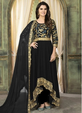 Faux Georgette Asymmetrical Anarkali Salwar Kameez For Ceremonial