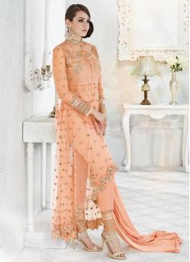 Faux Georgette Asymmetrical Designer Salwar Suit