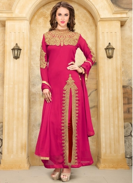 Faux Georgette Booti Work Designer Suit