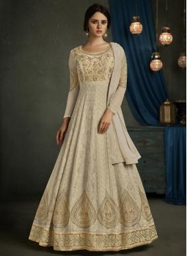 Faux Georgette Booti Work Floor Length Anarkali Salwar Suit
