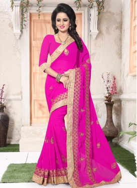 Faux Georgette Booti Work Traditional Designer Saree