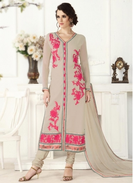 Faux Georgette Churidar Designer Suit For Festival