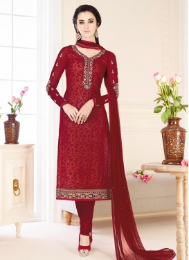Faux Georgette Churidar Salwar Suit