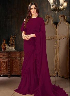 Faux Georgette Classic Designer Saree For Ceremonial