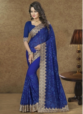 Faux Georgette Classic Designer Saree For Festival