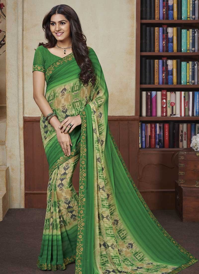 Faux Georgette Classic Saree For Ceremonial