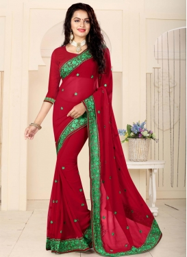 Faux Georgette Contemporary Saree