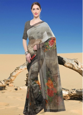 Faux Georgette Contemporary Style Saree For Casual