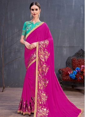 Faux Georgette Designer Contemporary Saree