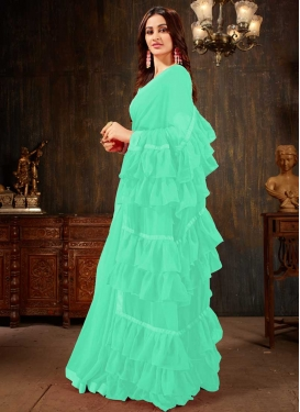 Faux Georgette Designer Contemporary Style Saree