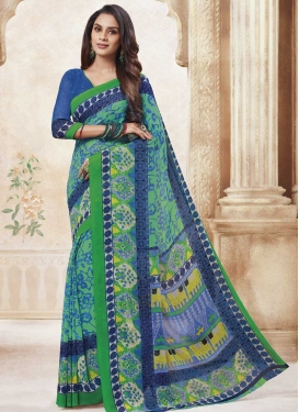 Faux Georgette Designer Contemporary Style Saree For Casual