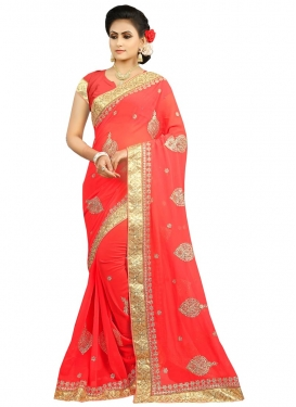 Faux Georgette Designer Contemporary Style Saree For Festival